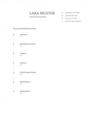 Anlagenverzeichnis Muster Vorlage 7