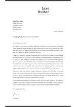 Anschreiben Vorlage 5