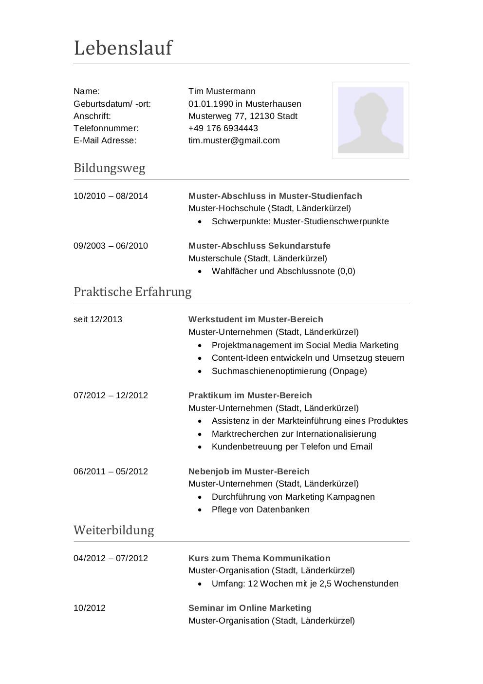 Bewerbungsmuster Buchhalter | Lebenslauf Designs
