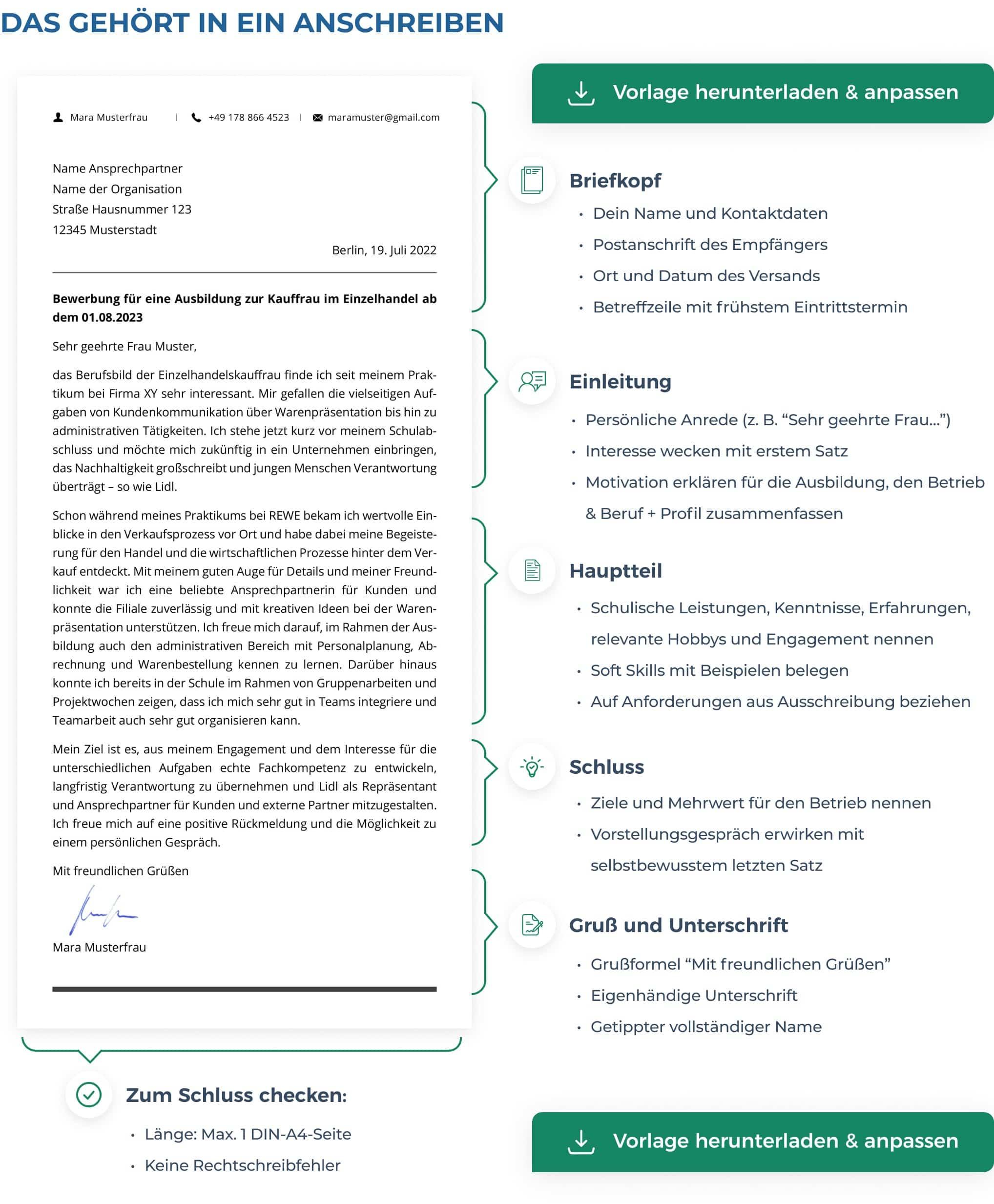 Bewerbungsschreiben Ausbildung Muster