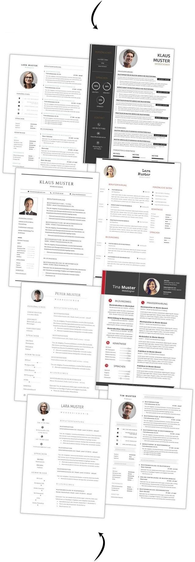 Bewerbungsvorlagen 77 Muster Für Die Bewerbung 2019 Ld