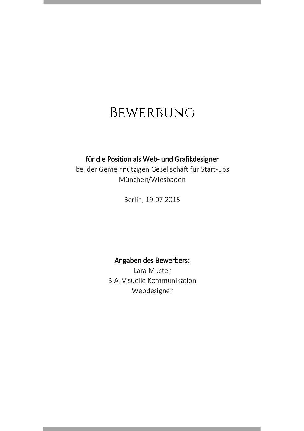 Anlagenverzeichnis Muster Vorlage 7 Deckblatt-Vorlage-7