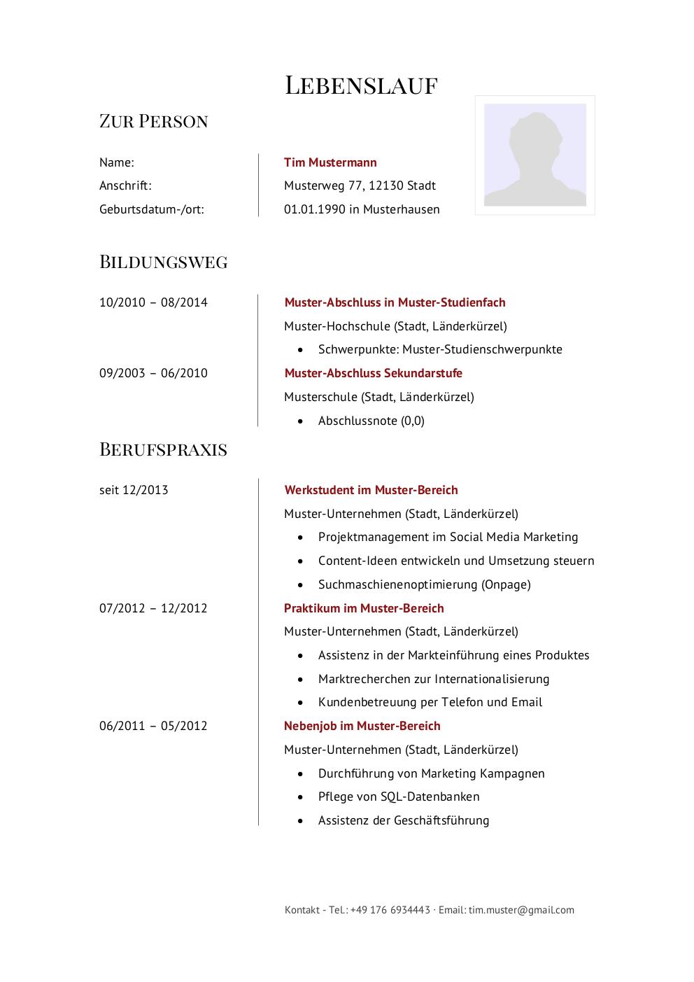 Initiativbewerbung Muster Für Verkäufer Lebenslaufdesignsde