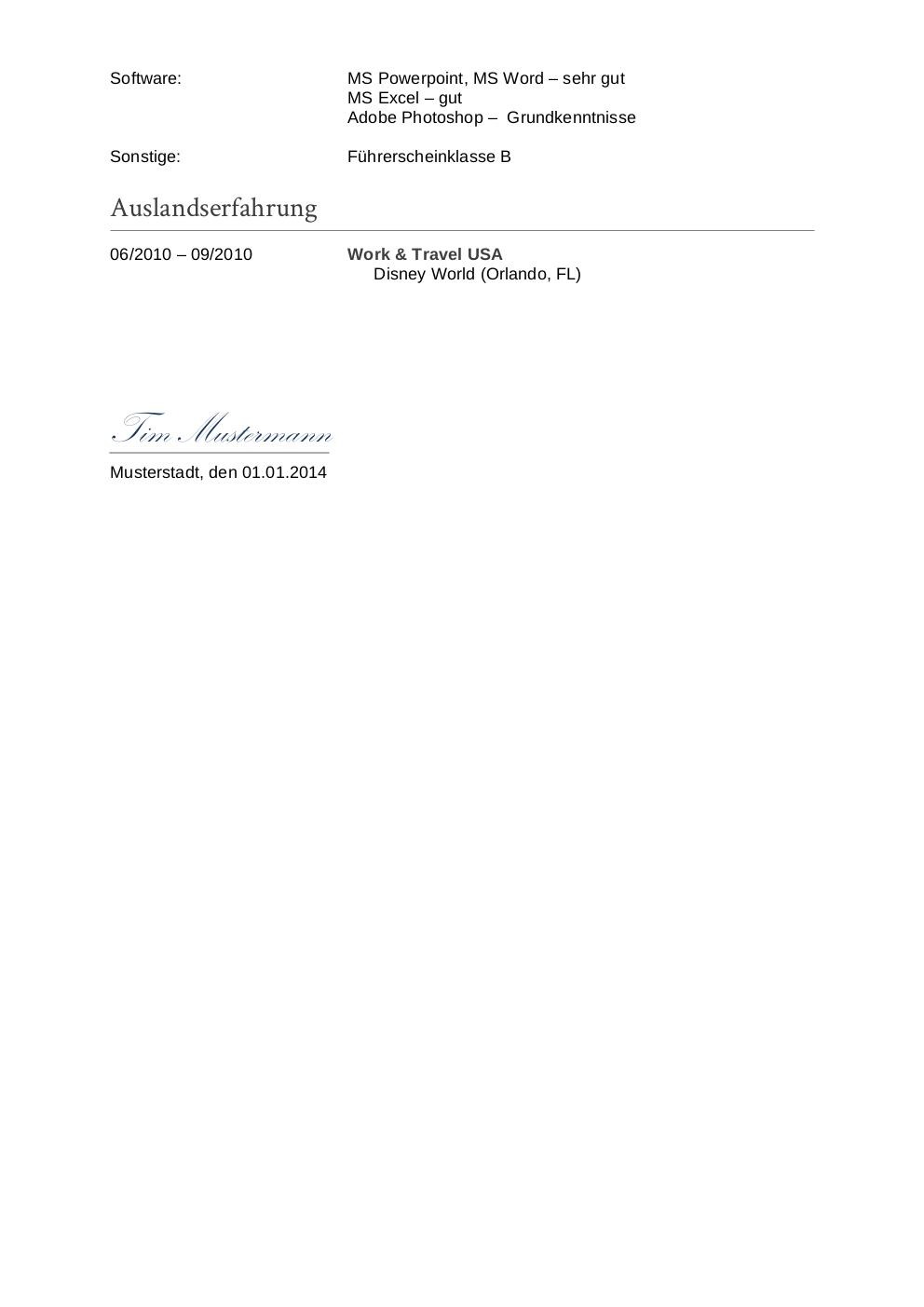 Charmant Lebenslauf Sachbearbeiter Galerie - Entry Level Resume ...