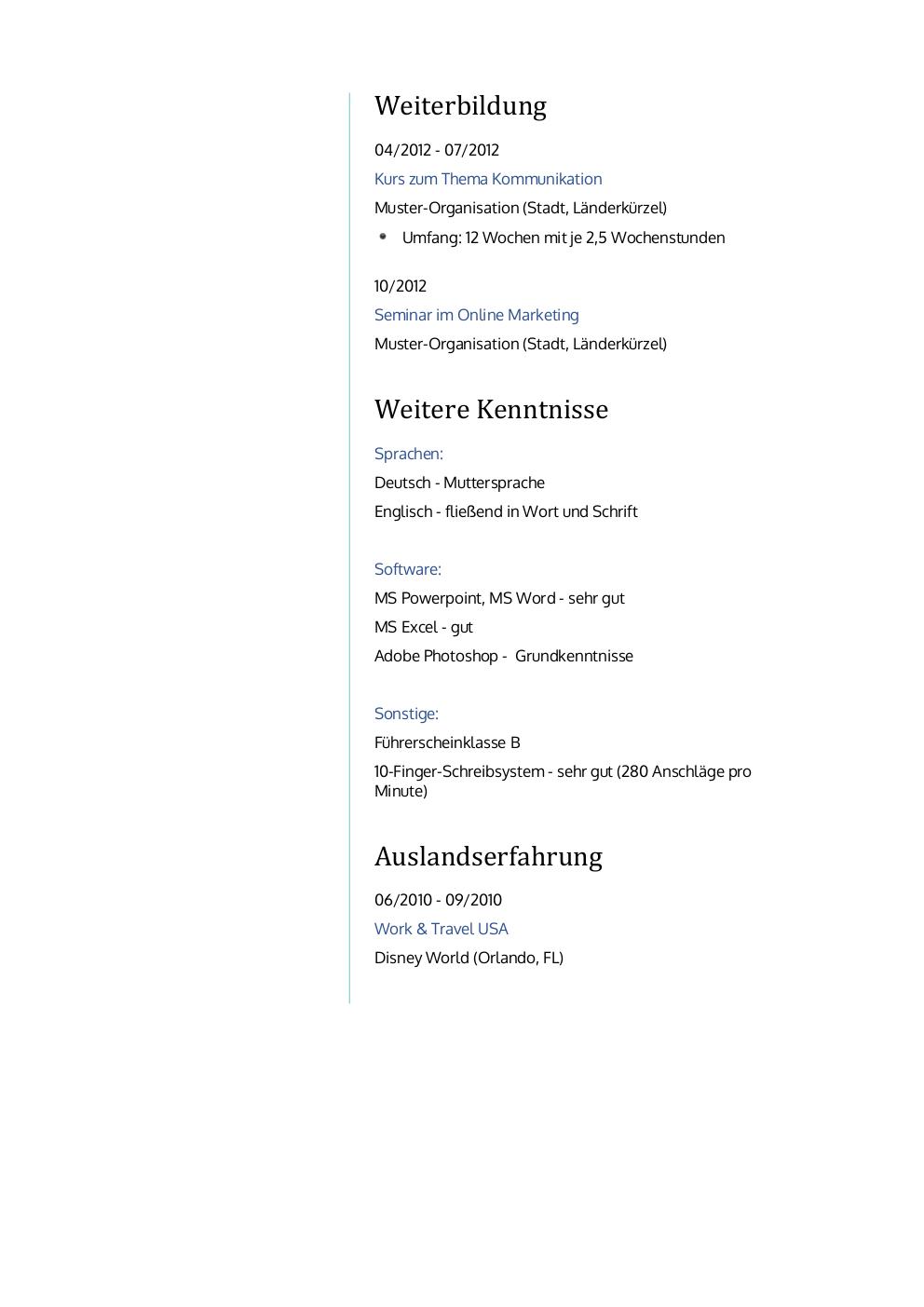 Ungewöhnlich Häufigste Lebenslauf Schriften Bilder - Entry Level ...
