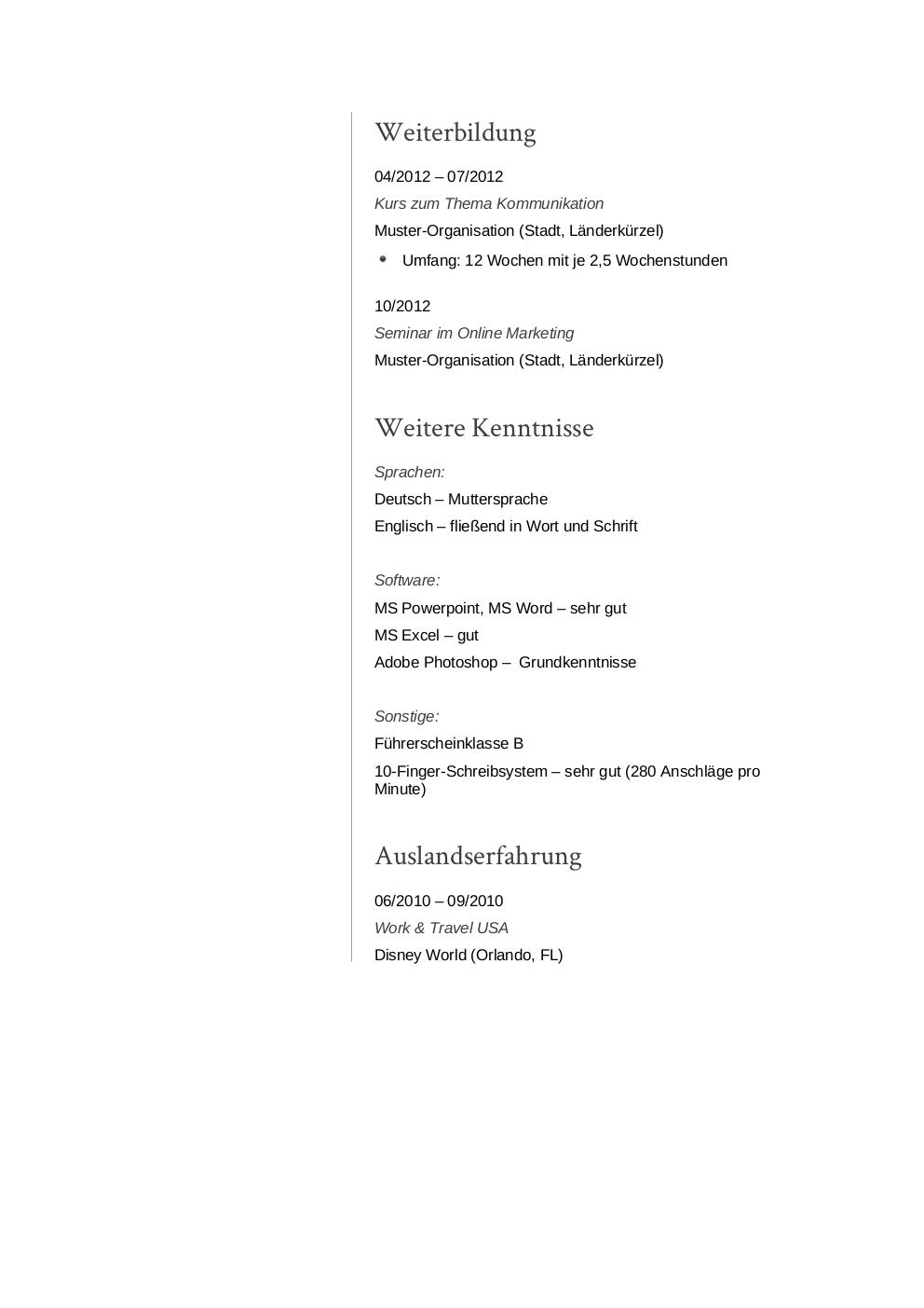 Großzügig Gute Lebenslauf Schriften Galerie - Entry Level Resume ...