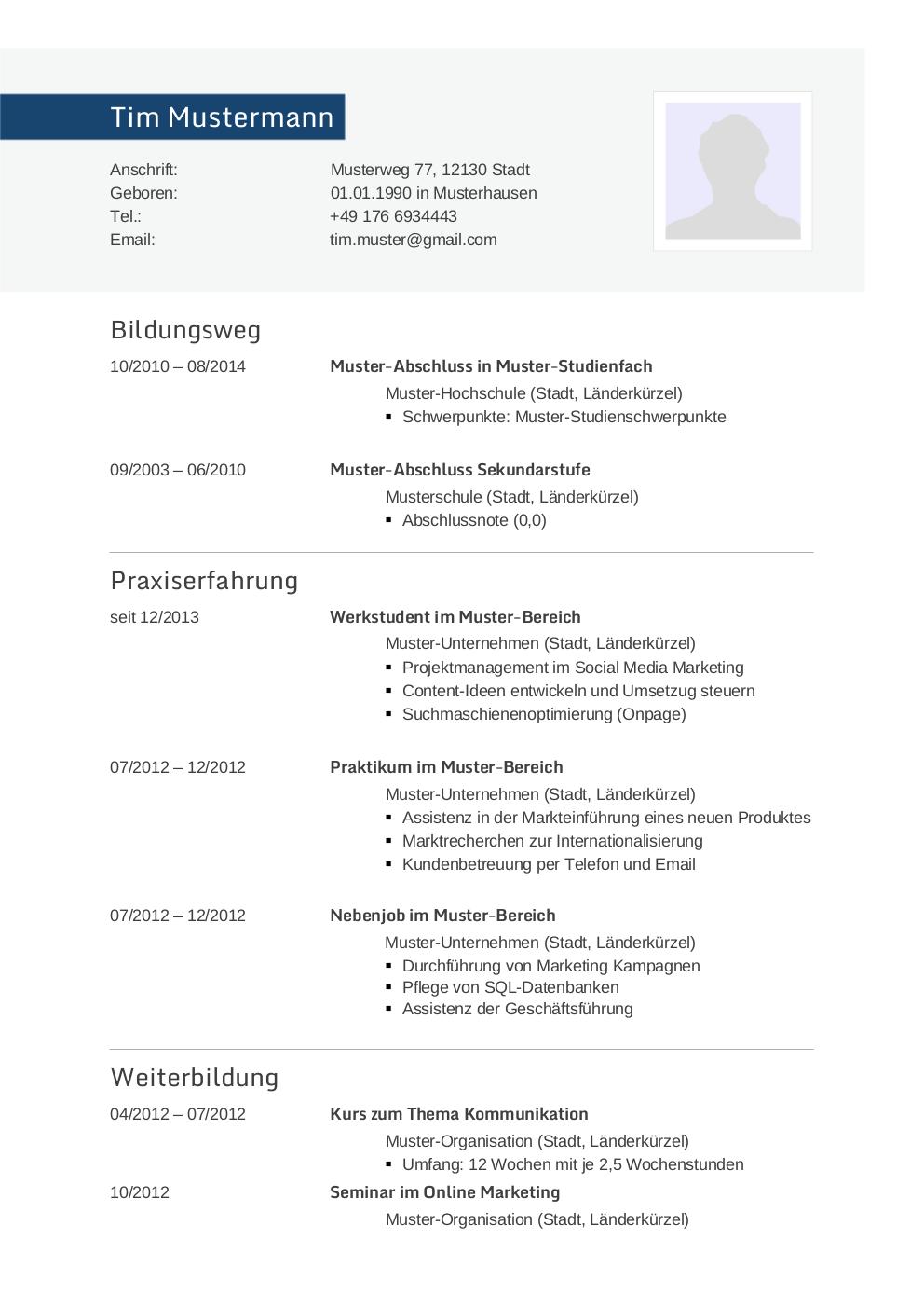 Initiativbewerbung Muster Für Informatiker Lebenslaufdeisgnsde