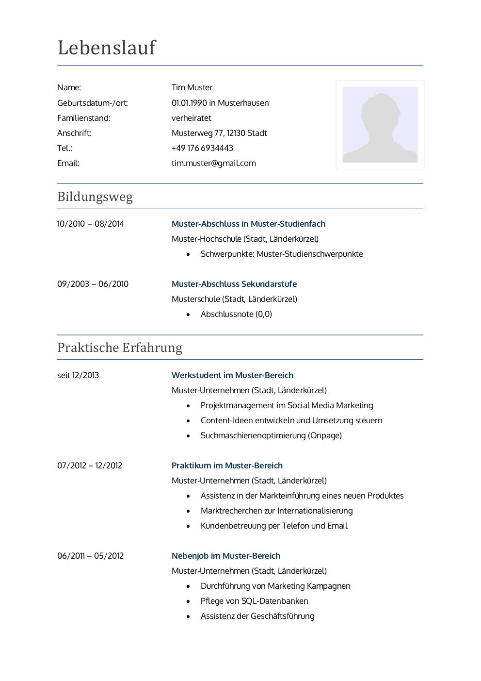 Initiativbewerbung Muster Für Lehrer Lebenslaufdesignsde