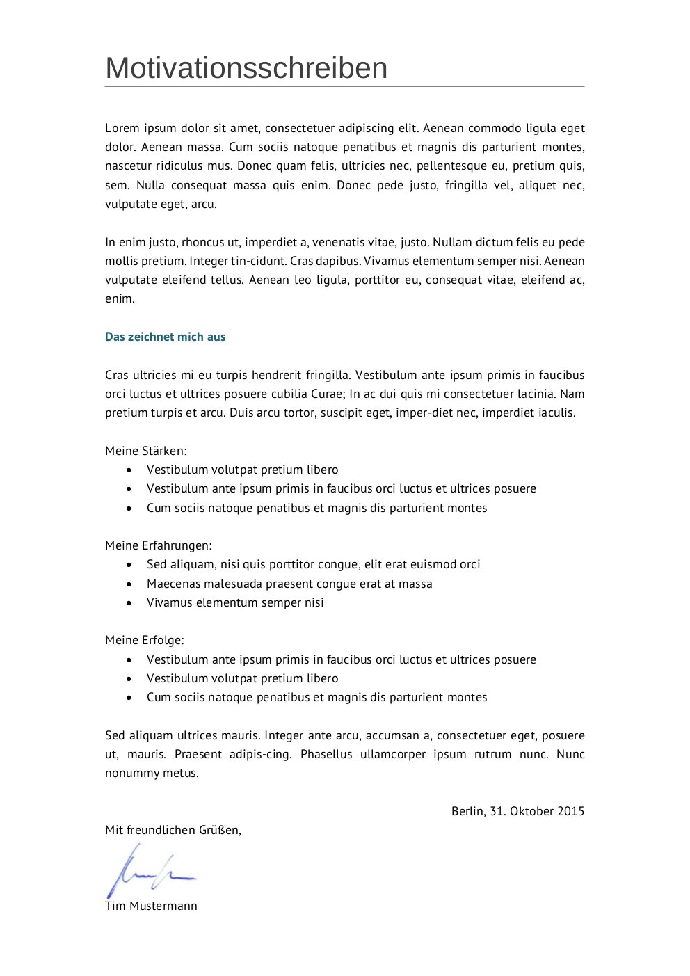 Initiativbewerbung: Muster für Techniker | lebenslaufdesigns.de