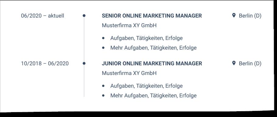 Interner Jobwechsel im CV