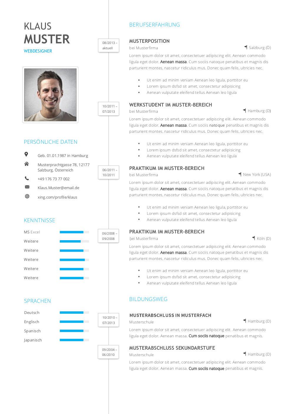 Premium Bewerbungsmuster 1 | lebenslaufdesigns.de