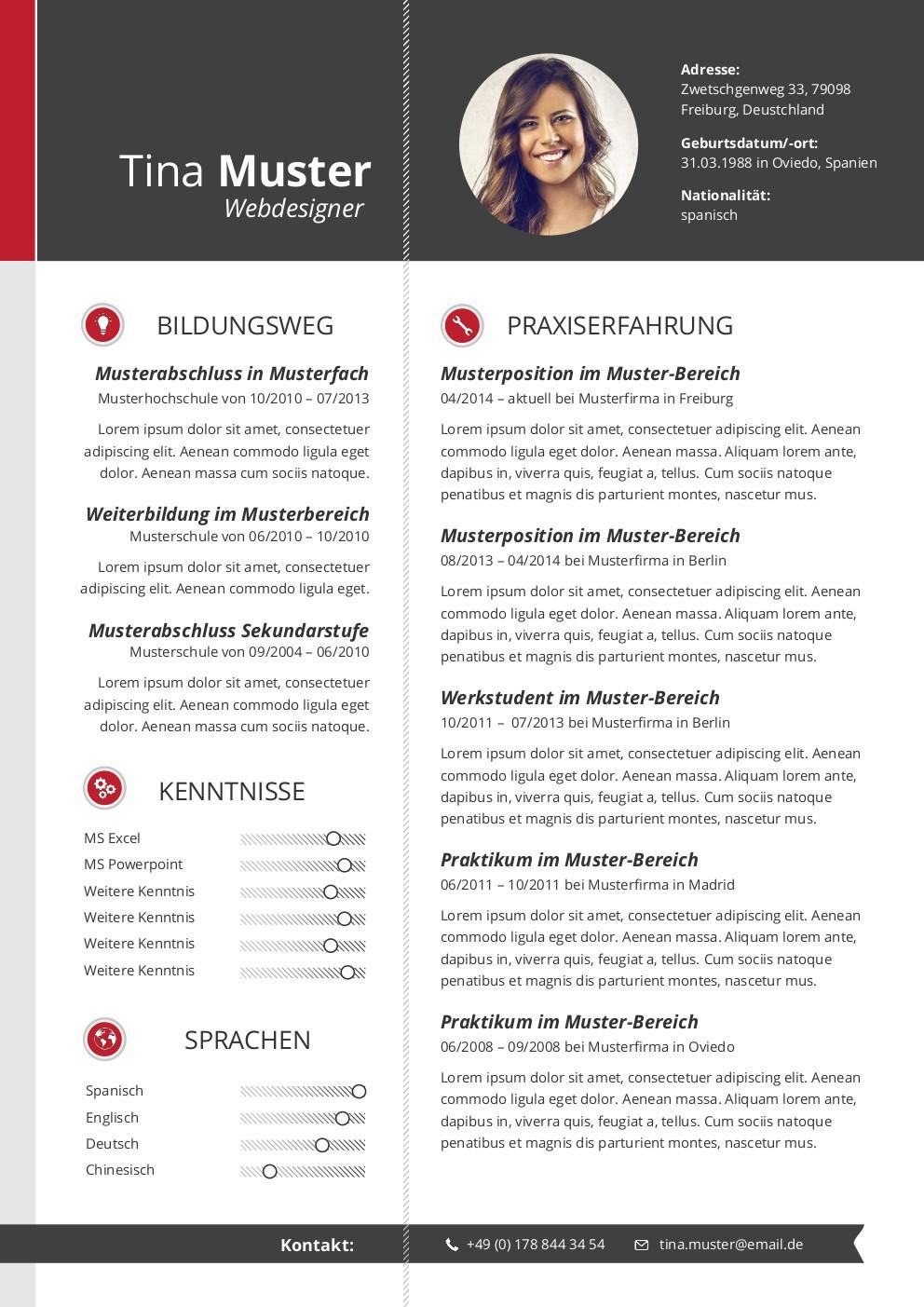 Berühmt Einen Lebenslauf Schreiben 2014 Bilder - Beispiel ...