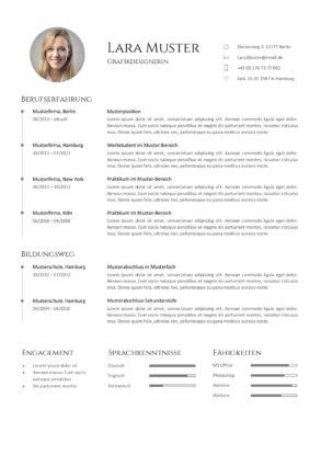 Lebenslauf Muster Vorlage 7