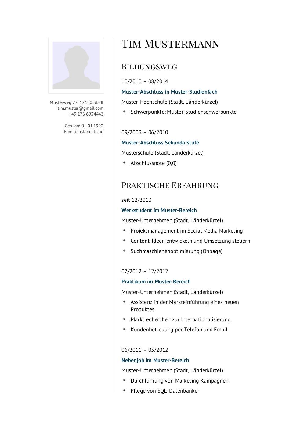 Bewerbungsmuster für Manager | Lebenslauf Designs