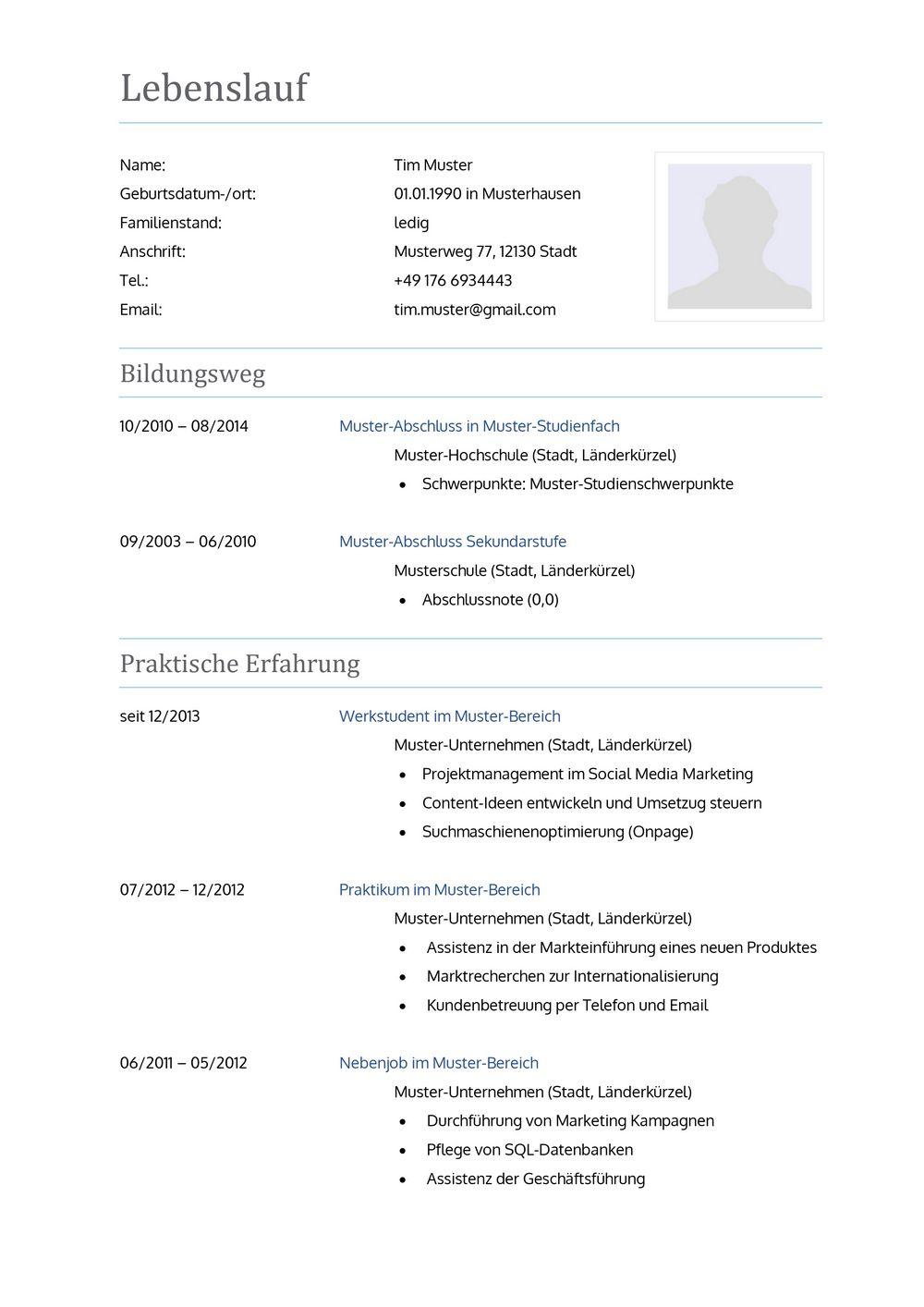 Lebenslauf Muster für Krankenpfleger | Lebenslauf Designs