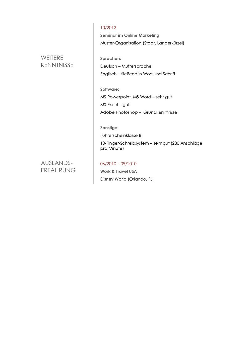 Lebenslauf Muster 12 | lebenslaufdesigns.de