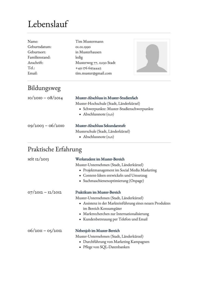 Lebenslauf Muster Vorlage 24 Anwalts-Assistent 1