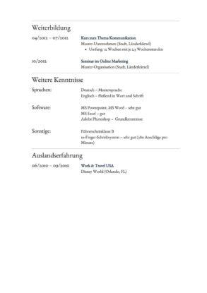 Lebenslauf Muster Vorlage 24 Anwalts-Assistent 2