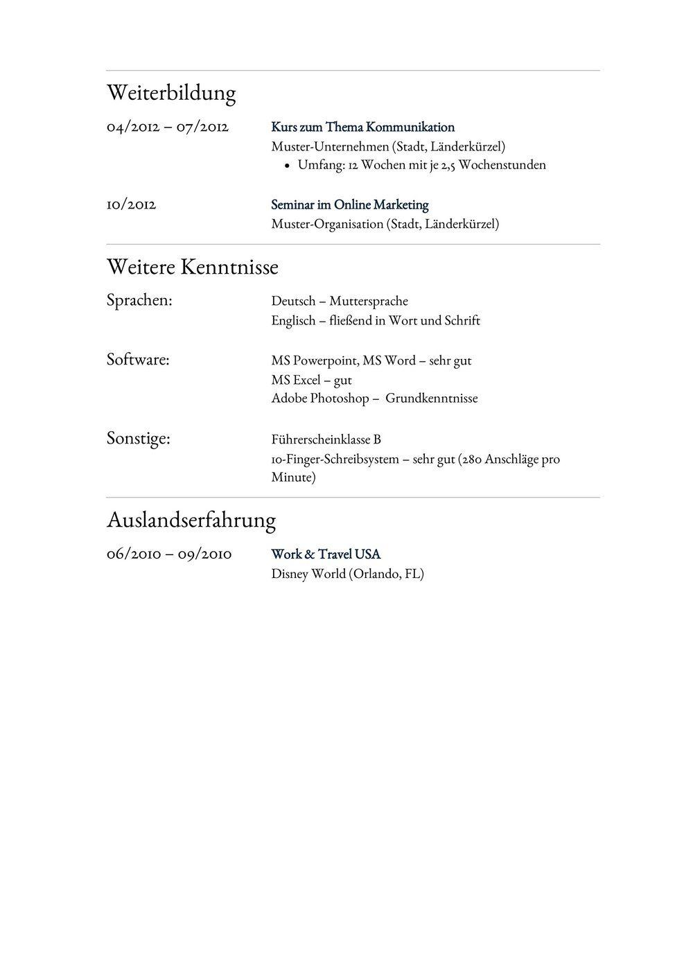 Lebenslauf Muster für Anwaltsgehilfe   Lebenslauf Designs