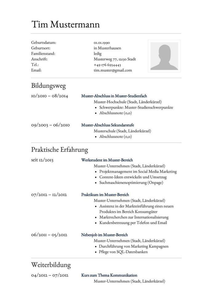 Lebenslauf Muster Vorlage 30 Anwalts-Assistent 1