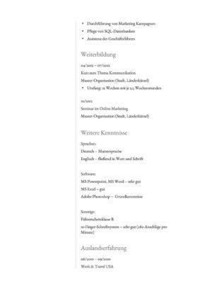 Lebenslauf Muster Vorlage 36 Anwalts-Assistent 2