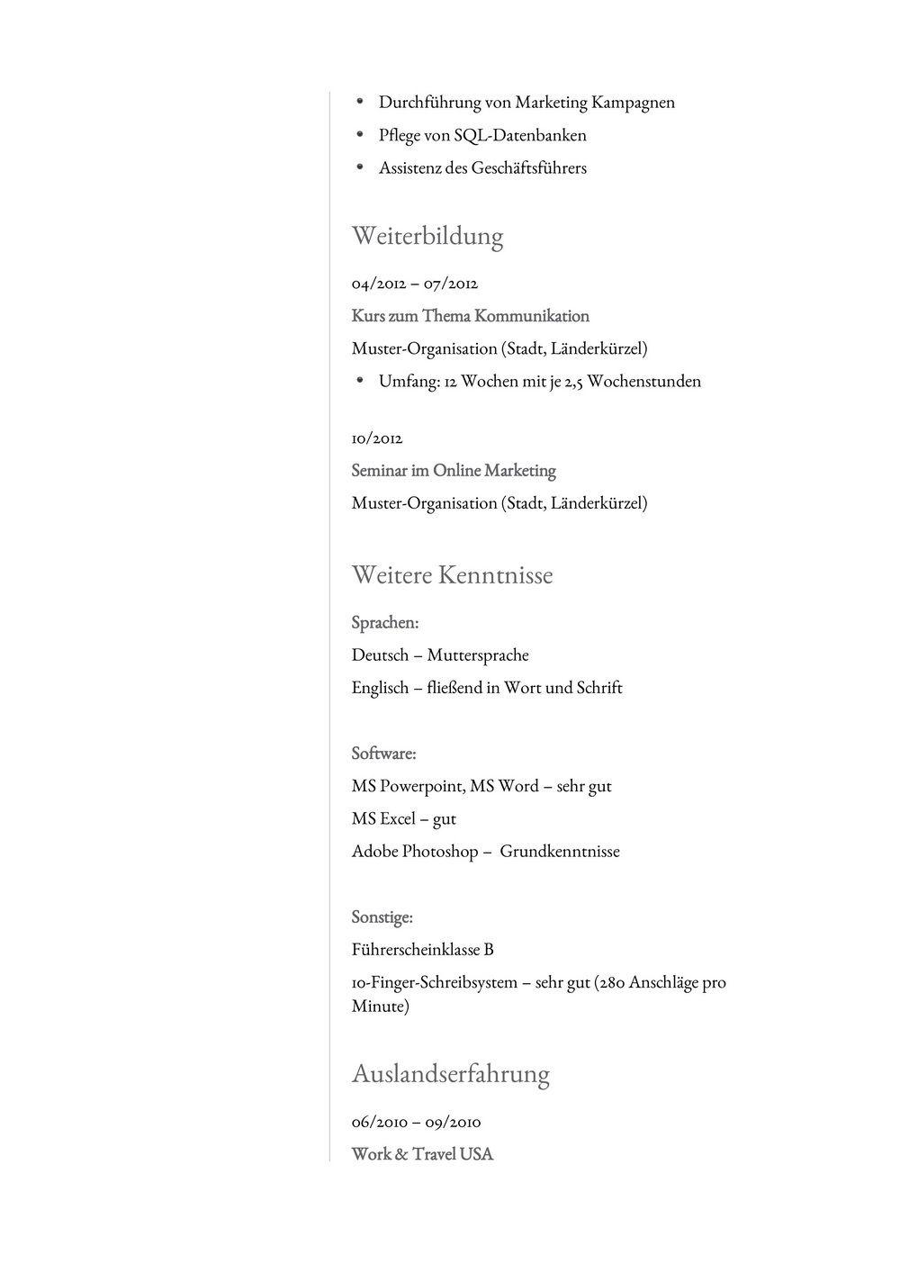 Lebenslauf Muster für Analyst | Lebenslauf Designs