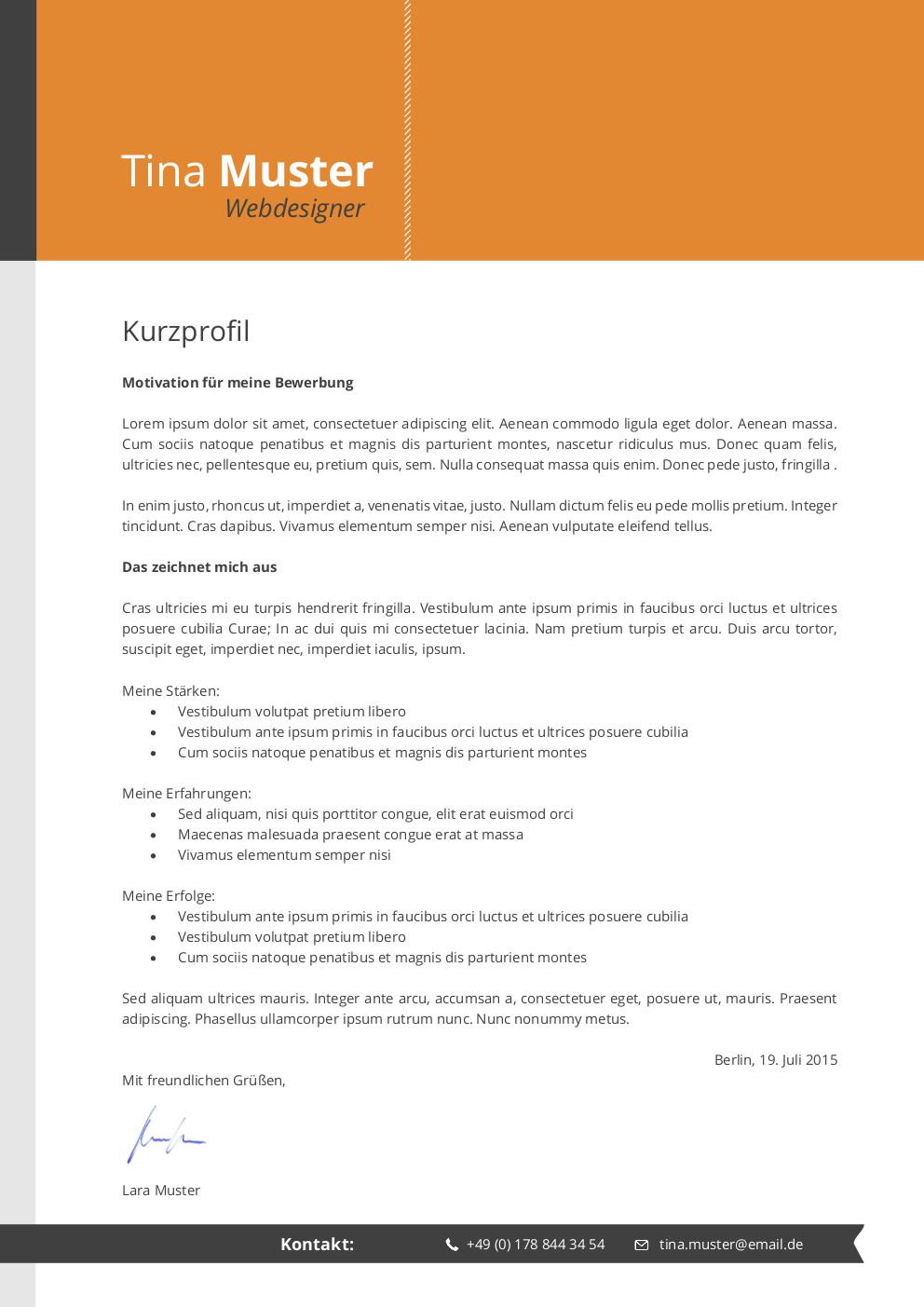 Premium Bewerbungsmuster 4 | lebenslaufdesigns.de