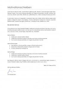 Motivationsschreiben Publisher