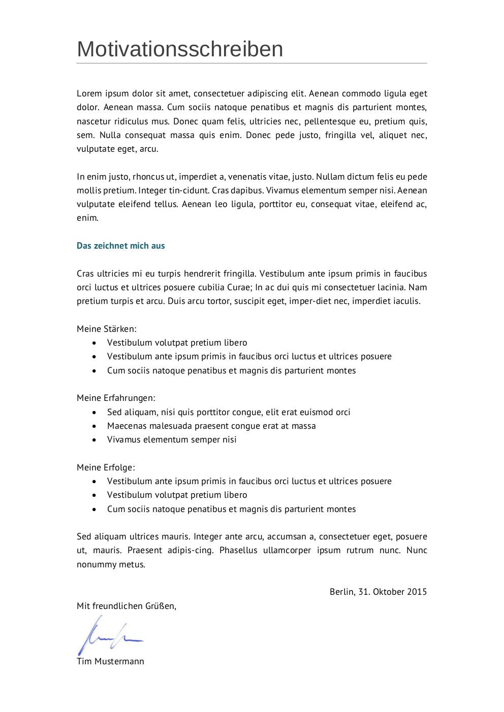 Bewerbungsmuster Techniker | Lebenslauf Designs